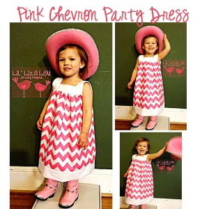 Pink Party Chevron Dress