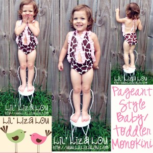 Lil Liza Lou Baby Toddler Monokini